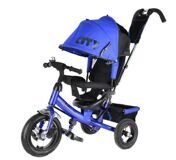 "Велосипед Trike CITY JD7BB 12"" и 10"" Синий"